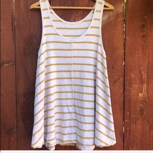 Free People Stripe Jersey Top size S